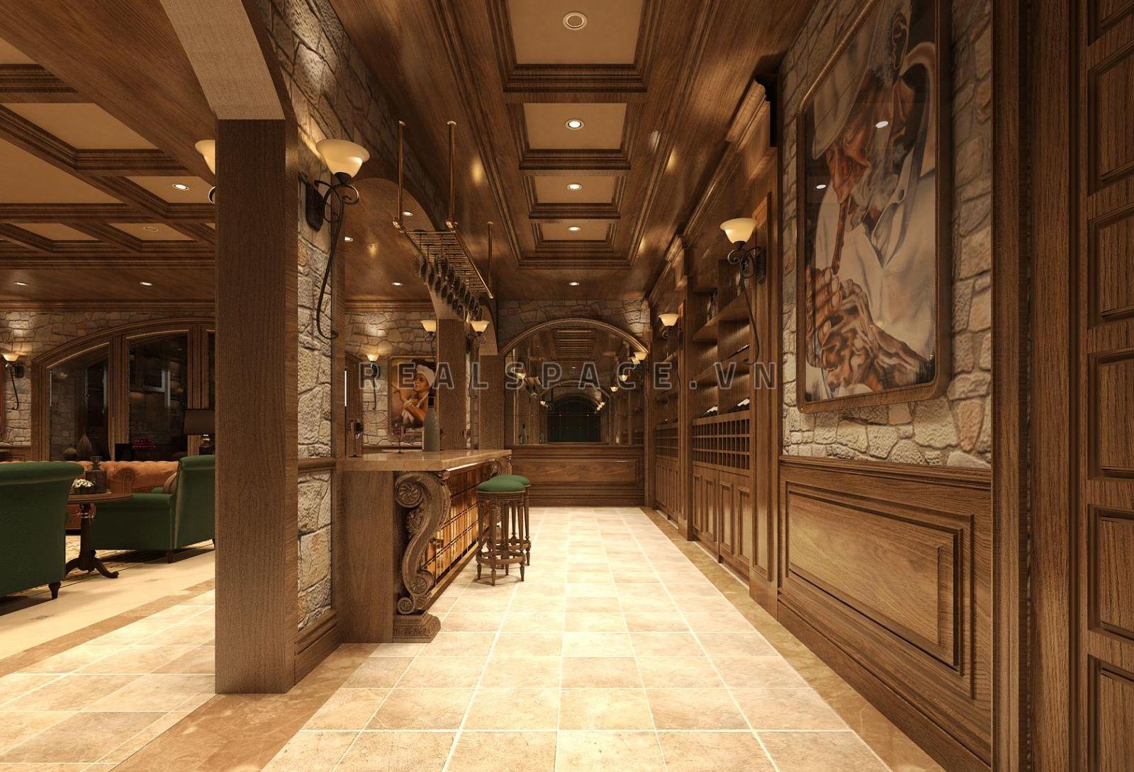 Thiết kế nội thất biệt thự tân cổ điển tại Thái Nguyên