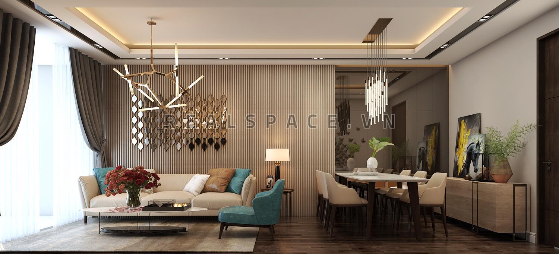 Thiết kế nội thất chung cư Penthouse tại The Sun Avenue hiện đại