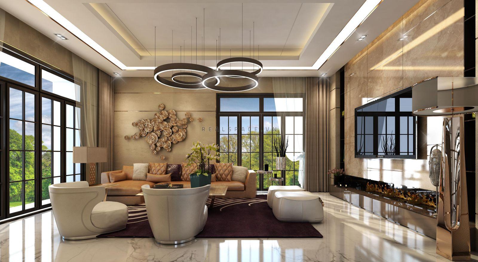Thiết kế nội thất biệt thự Vườn Đào hiện đại