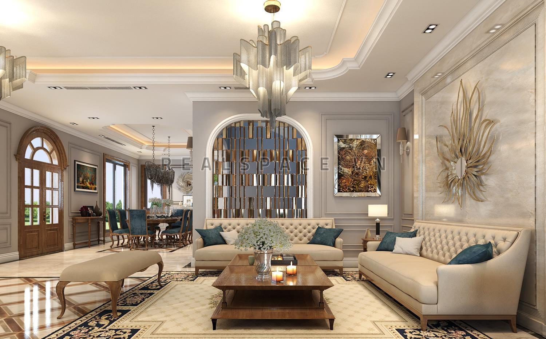 Thiết kế nội thất biệt thự song lập tại Geleximco Lê Trọng Tấn - Chị Hương