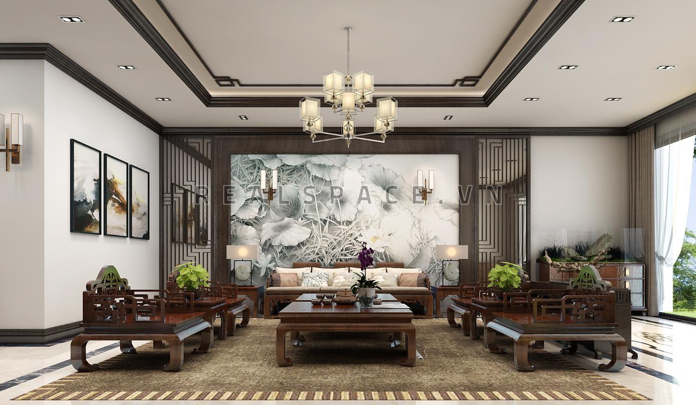 Thiết kế nội thất biệt thự liền kề phong cách Á Đông tại Lào Cai