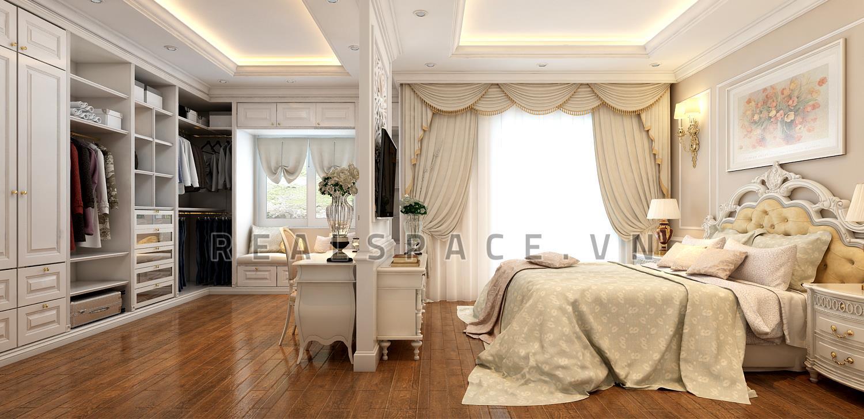 Thiết kế nội thất biệt thự Vinhomes Riverside Hoa Sữa tân cổ điển - Anh Thiện