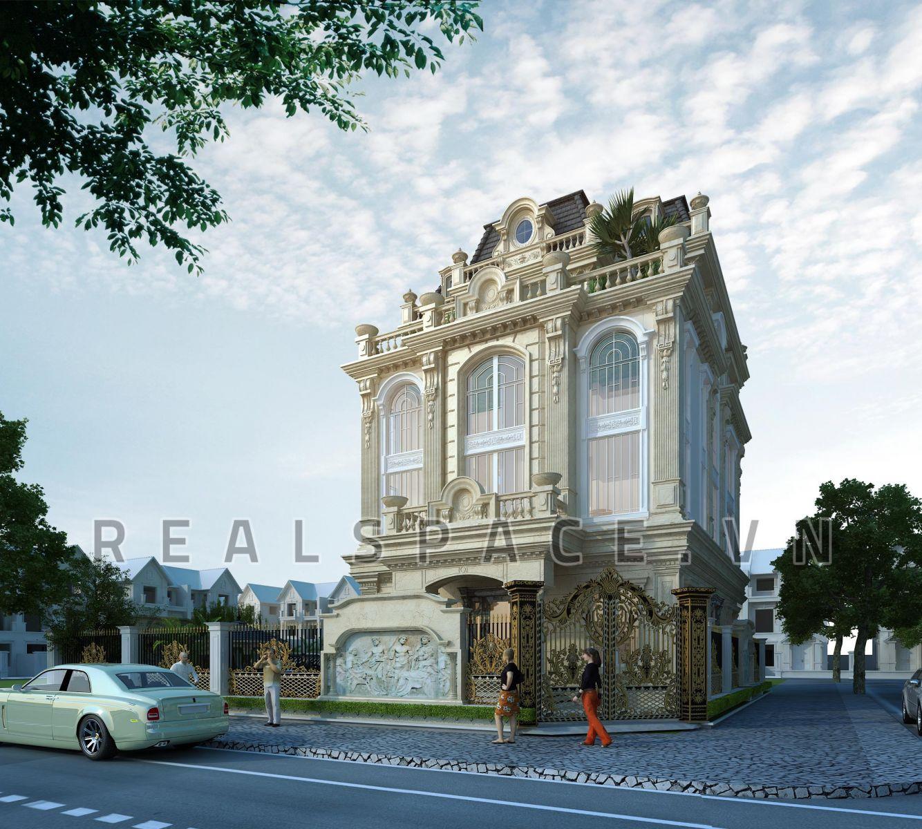Thiết kế biệt thự kiểu Pháp tại Hưng Yên - Anh Đảo