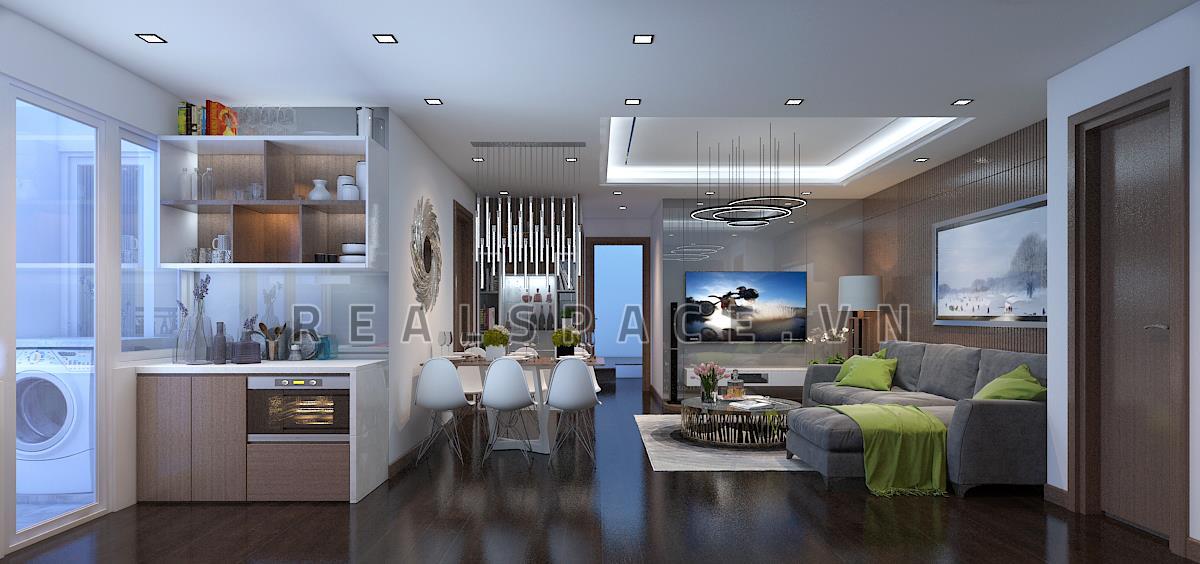 Thiết kế nội thất chung cư hiện đại tại Z133 Long Biên