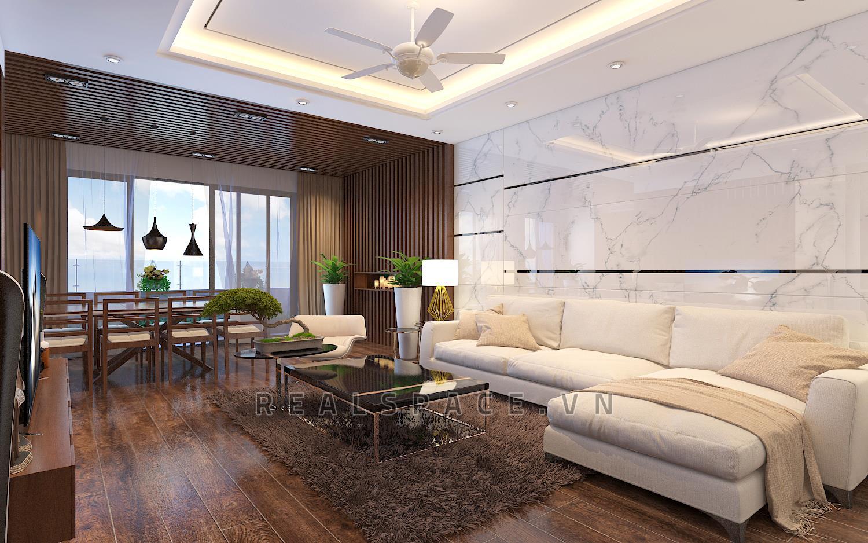 Thiết kế nội thất chung cư phong cách gỗ Việt hiện đại tại Hancico