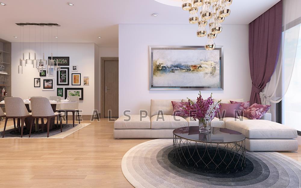 Thiết kế nội thất chung cư hiện đại tại Mipec Long Biên - Anh Quảng