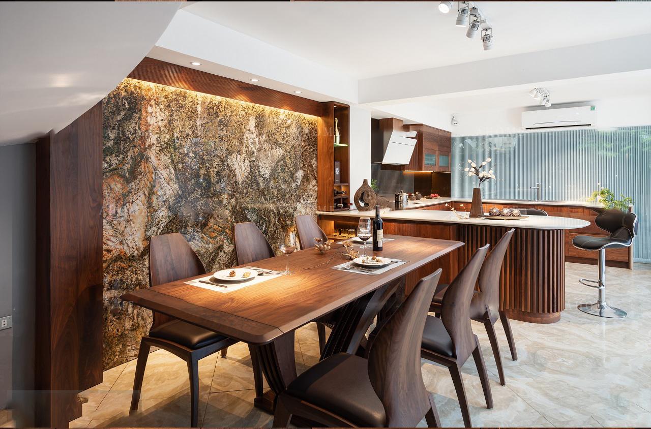 Thiết kế nội thất bằng gỗ óc chó - đánh thức mọi giác quan