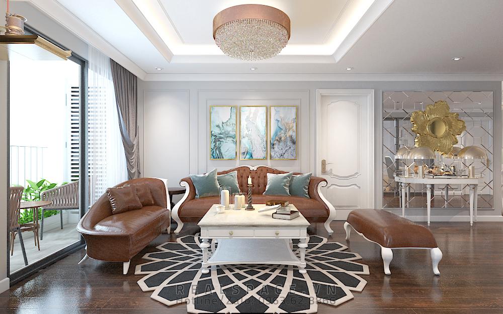 Thiết kế nội thất chung cư Sunshine tân cổ điển