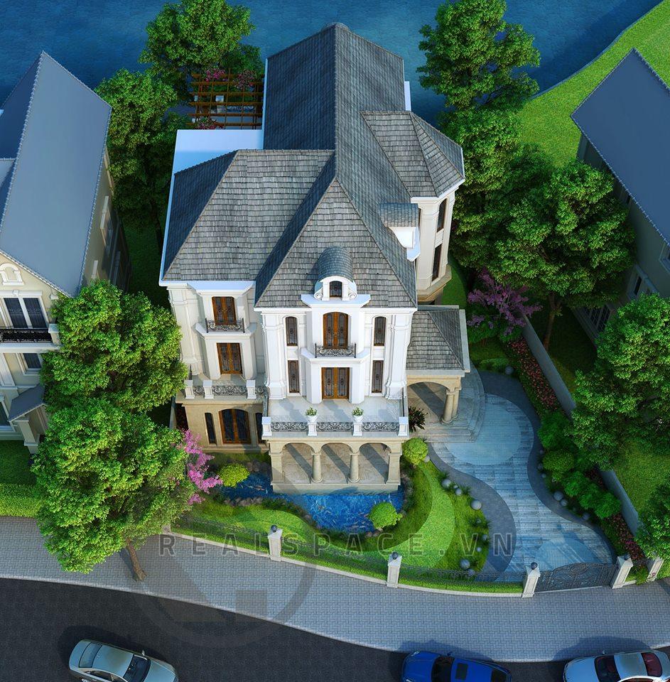 Thiết kế kiến trúc biệt thự Bằng Lăng Vinhomes Riverside