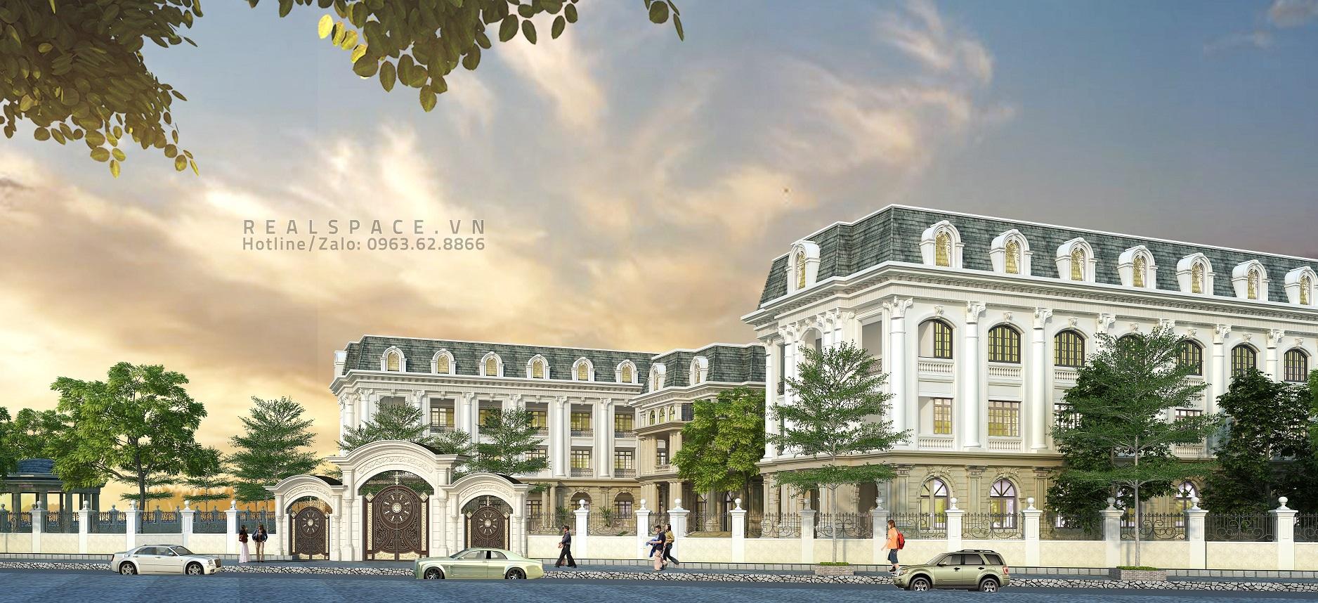 Thiết kế trường học liên cấp khu Trung Yên